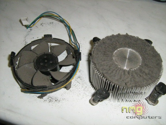 how to clean the dust from your comouter overheating